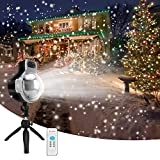LEDshope Snowfall Projector LED Lights Wireless Remote, IP65 Waterproof Rotatable White...