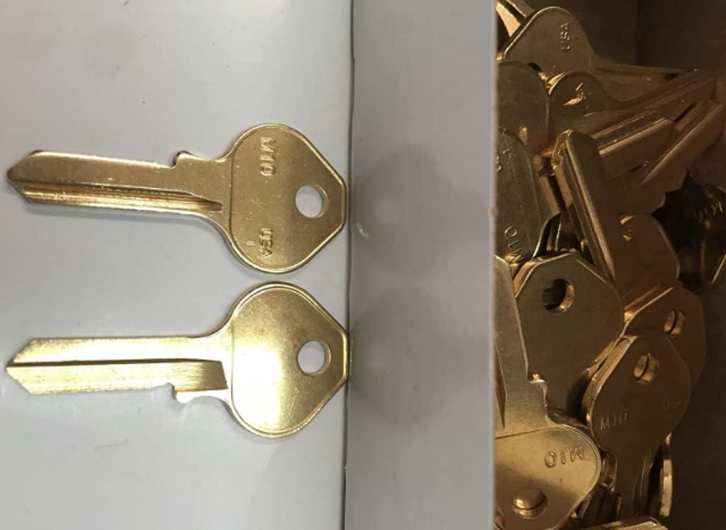 50 Gifts Pcs New York Mall Key Blank M10 for 1092N Master Padlock #AA60RK