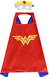 Children's Cartoon Superhero Inspired Cape and Mask Set with Free Matching Lollipop Decoration