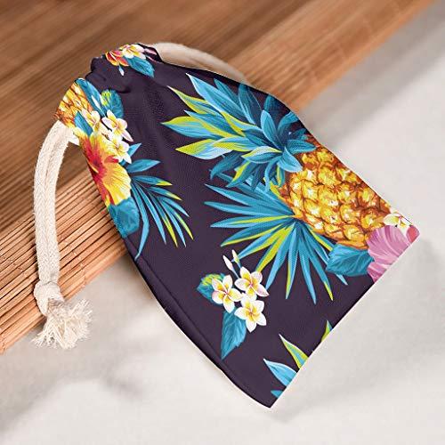 EUNNT Ananas-Fruchtbeutel, langlebig, für kleine Geschenke, 6 Stück, weiß, 12*18cm