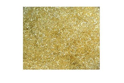 Decpero Lametta Engelshaar gelockt 250 Gramm Gold