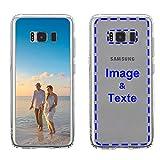MXCUSTOM Coque Personnalisée Samsung Galaxy S8, Personnalisable avec Votre Propre Photo Image Texte...