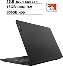 Lenovo IdeaPad S145 Newest 15.6 Inch Premium Laptop, AMD APU A6-9225 up to 2.7GHz, AMD Radeon R4, 16GB DDR4 RAM, 500GB HDD, WiFi, Bluetooth, HDMI, Webcam, Windows 10, Black