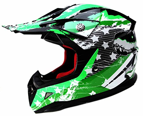 Motocross Youth Kids Helmet DOT Approved - YEMA YM-211 Motorbike Moped Motorcycle Off Road Full Face Crash Downhill DH Four Wheeler Helmet for Street Bike Dirt Bike BMX ATV Quad MX Boys Girls, Small