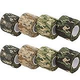 XunHe Camo Tapes, Multifunktionales Stealth Camouflage Tape Stoffwickel Selbstklebender Vliesstoff Band Camo Stretch Bandage für Taschenlampe, Teleskop, Fahrrad (8 Rollen)