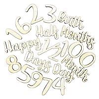 regalo 木製 マンスリーレターバナー ガーランド 誕生日 バースデー ハーフバースデー 100日祝い 月齢フォト (ナチュラル)