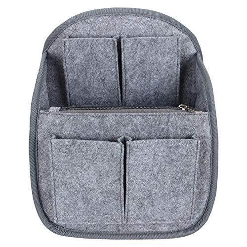 Luxja Backpack Organizer, Felt Organizer Insert for Backpack, Gray