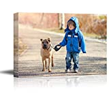 SIGNFORD 11'x14' Custom Canvas Prints, Child Pets Personalized Poster Wall Art with Your Photos Wood Frame Digitally Printed