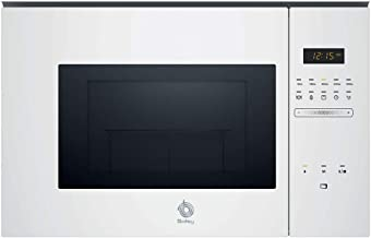 Balay, 3CG5172B0 - Microondas integrable Serie Cristal, 20L, 800W, Grill 1000W, Control táctil, Color blanco