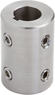 57 millimeters OD 101 millimeters length M 8 x 8 Set Screw Climax Part MRC-30-S-KW T303 Stainless Steel Rigid Coupling 30 millimeters bore
