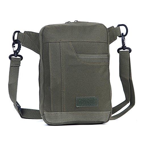 Ruifu Sac à bandoulière tactique en nylon pour homme - Pour voyage, sports de plein air - Style militaire - Vert