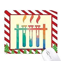 異なる温度試験管化学 ゴムクリスマスキャンディマウスパッド