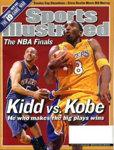 Sports Illustrated June 10 2002 Jason Kidd/New Jersey Nets & Kobe Bryant/Los Angeles Lakers on Cover, The NBA Finals, Stanley Cup Showdown - Steve Rushin Meets Bill Murray, Tony Hawk, Boston Red Sox vs New York Yankees (19 Times)
