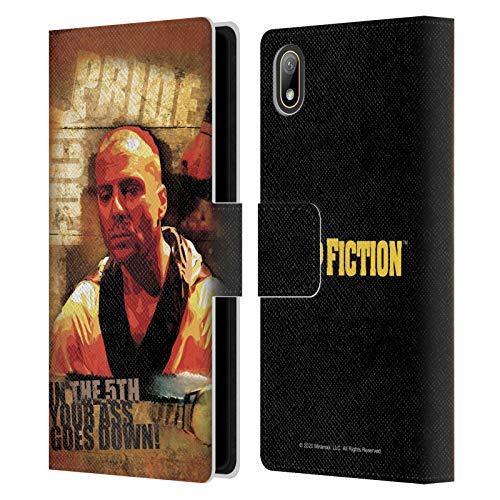 Head Case Designs Licenza Ufficiale Pulp Fiction Butch Arte Cover in Pelle a Portafoglio Compatibile con Huawei Y5 (2019)