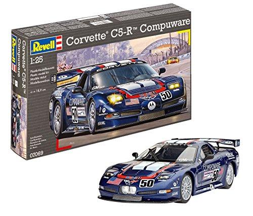 Revell Modellbausatz Auto 1:25 - Corvette C5-R Compuware im Maßstab 1:25, Level 4, originalgetreue Nachbildung mit vielen Details, 07069