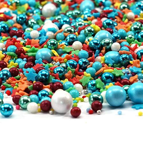 mySprinkles Zuckerstreusel bunt Zauberei 180g Sprinkles - Bunte Streusel perfekt zum Backen als Tortendeko für Kindergeburtstag Geburtstag Kuchen Cupcakes Muffins Cakepops