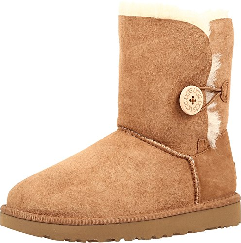 UGG Female Bailey Button II Classic Boot, Chestnut, 40 EU