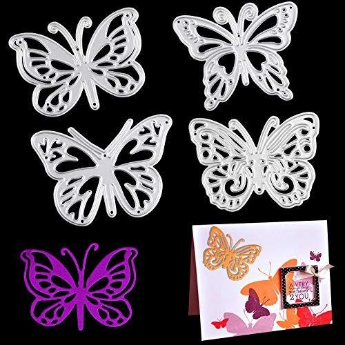 OOTSR Stanzschablonen Schmetterlinge, Prägeschablonen Stanzformen Metall Schneiden Schablonen für DIY Kartenherstellung Scrapbooking Fotoalbum Deko Cutting Dies