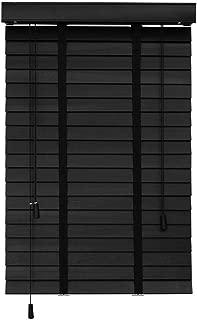 Persianas venecianas Madera Negra - Persianas Horizontales con Fácil Montaje Interior - Tilo Premium, 60cm / 80cm / 100cm / 120cm / 140cm De Ancho (Size : 140x140cm)