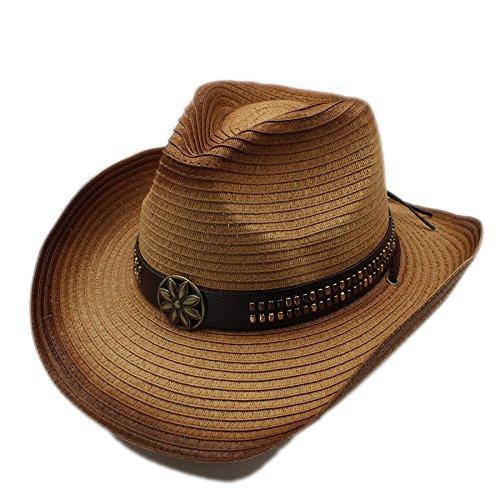 XYAL0003001 Xingyue Aile Hoeden & Caps Voor Gentleman Cowgirl Jazz Kerk Cap Papa Sombrero Strand Zon Hoed Adjused Mate, Zomer Vrouwen Mannen Rieten Holle Westerse Cowboy Hoed