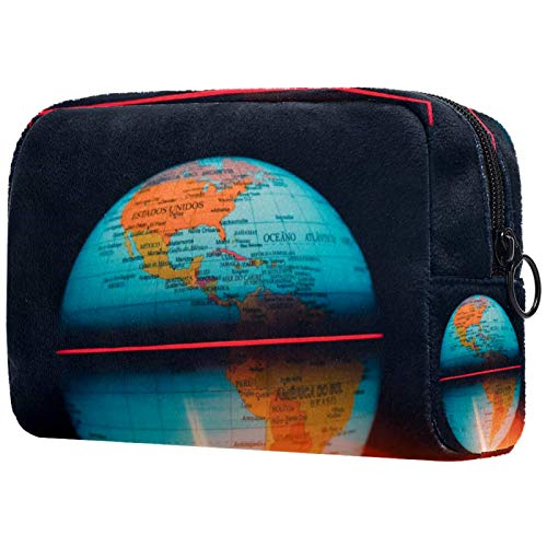 Bolsa de cosméticos para mujeres, globo de mapa de la tierra, bolsas de maquillaje, accesorios organizador regalos