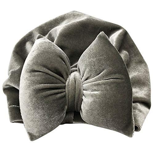 Dltmysh Bandeau 2020 Nouveau-nés garçons Velours Velours Coque Chapeaux Printemps Hiver Coton Soft Bonnet Chapeau Chapeaux pour Enfant Enfant Enfant Enfant (Color : Gray)