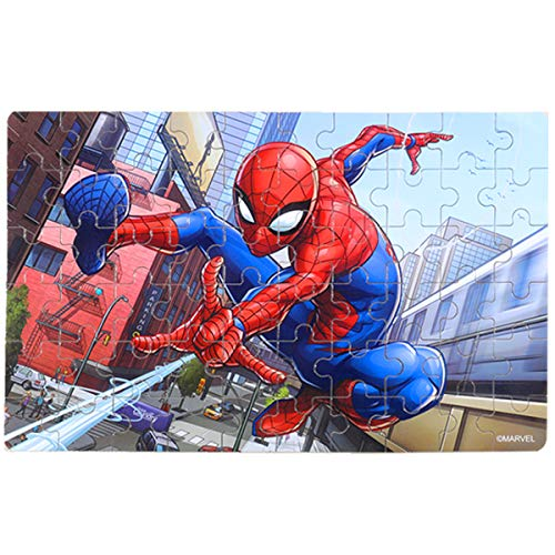 NEILDEN Disney Jigsaw Puzzles,Marvel Spiderman 60 Pieces Puzzles for Kids Ages 4-8,Learning Educational Puzzles for Children Girls and Boys,Packed in Tin Box,Puzzle Size:9.2'X5.9'