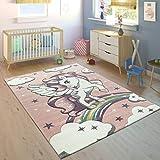 alfombra unicornio rosa
