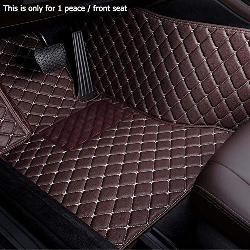 ROYAL STAR TY Accesorios Car Styling pie Mats Custom Car Tapetes for Porsche Cayman Macan Panamera Cayenne Boxster 718 911 (Color Name : Coffee-1 Piece Driver Seat)