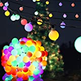 59FT 180LED Outdoor String Lights, Waterproof Globe String Lights, LED Outdoor Lights with UL Plug,Decorative Hanging Lights for Home, Farmhouse, Wedding, Patio, Modern Decor, Wall Lights