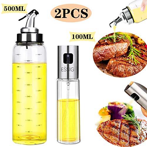 bester der welt Nifogo Olivenölspenderflasche und Essigölsprühflasche, große Olivenölspenderflasche… 2021