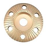 Tashido Disco de Tallado de Madera de 4.5 Pulgadas Disco de Talla Redondo con Agujero Rueda de Amoladora de Lijado de 22 Mm para 115 125 Amoladora Angular de Oro
