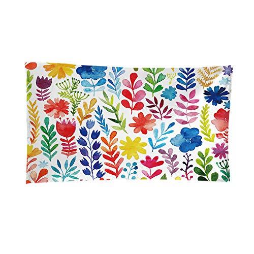 LHUTY Toalla de Playa de Microfibra Árbol de Color 80 x 160 cm Toalla de Piscina Esterilla de Yoga, Seque Rápidamente, Absorbente,Prevención de Arena para Viaje, Picnic