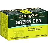 Bigelow Green Tea with Mint Tea Bags, 20 Count Box (Pack of 6) Caffeinated Green Tea, 120 Tea Bags Total