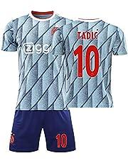Voetbalshirts AFC Ajax 20/21 Thuis/Away Game No.10 Dusan Tadic Jersey Sokken En Shorts Set Voetbal Jersey, voor Kinderen Volwassen