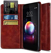 Wallet Case for LG K30/LG Premier Pro L413DL/LG Xpression Plus/LG Phoenix Plus,OTOONE [Flip Folio] Shock Proof PU Leather Wallet Protective Phone Cover with Kickstand for LG Phone 2018 (Burgundy)