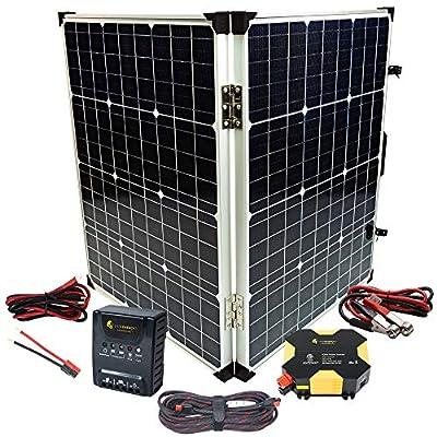 Lion Energy 12v DIY Solar Power Kit with 400W Inverter and 12v 100W Folding Solar Panel