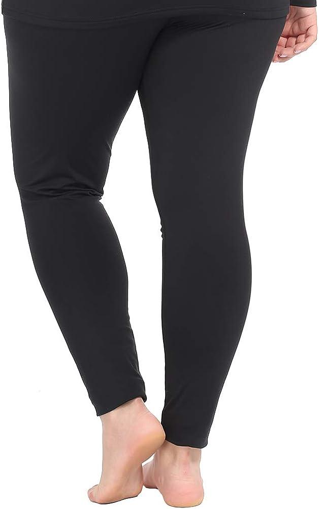 Nuonita Women's Thermal Pants Plus Size Fleece Lined Leggings Underwear Ultra Soft Bottoms