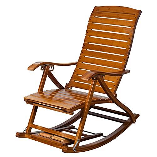 Sedie a Dondolo Sedie a Dondolo Pieghevoli Portatili per Adulti, Sedia A Sdraio Pieghevole da Campeggio con Veranda All'aperto con Bracciolo Largo, capacità di 220 Libbre