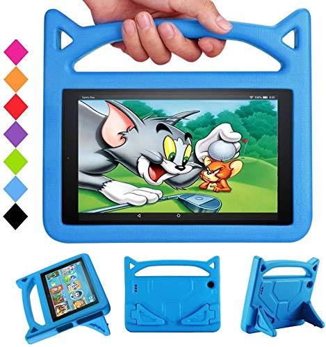 2020 Tablet case 10 inch Snowwicase All-New Amazon firl Kindle 10 Tablet case Waterproof Lightweight 10 inch Portable Tablet case for Kids Fire 10 HD Tablet Case (5th/7th/9th Generation) (Blue 1)