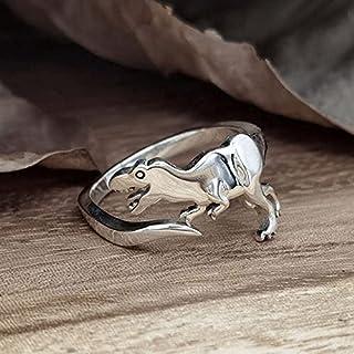 Fashion Dinosaur Ring Adjustable Cute Dinosaur Shape Opening Ring Women Teen Girls Novelty Jewelry