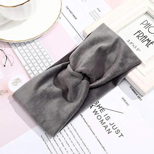 Turbantes Headband Diademas para Mujer Turbantes Diadema para Mujer Color Sólido Turbante Ancho Twist Knitted Cotton Hai