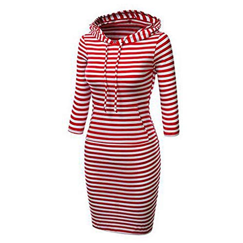 Check Out This FengGa Women's Long Sleeve Solid Patchwork O Neck Casual Long Hooded Sweatershirt Coc...