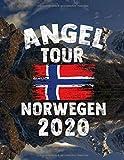 Angeltour Norwegen - Norwegen 2020: DIN A4 Fangbuch auf über 120 Seiten für den perfekten Angelurlaub in Norge. Angel Buch Notizbuch / Logbuch zum Eintragen der Fänge und Fische.