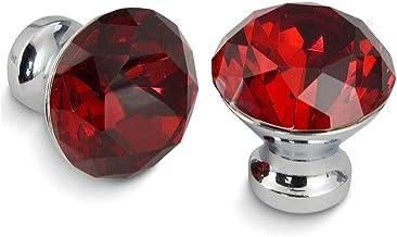 Aiglen 30mm Kitchenkast Handgrepen Diamantvorm Design Crystal Glass Knoppen Kast Trekt Lade Knoppen Meubels Handvat Hardwa...