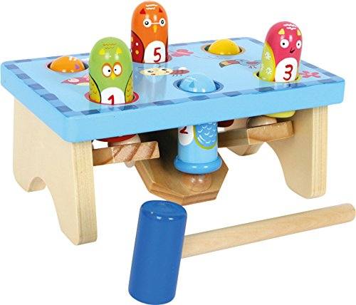 small foot wooden toys Smack The Bird Knock Playset with Hammer Designed for Children Ages 18+ Months (5807)