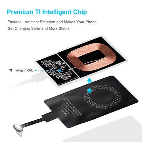 Qi Empfänger USB C, CHOETECH Wireless Charging Qi Receiver, Type C Induktions Ladegerät Empfänger für Huawei P30/Nova, Sony XZ1, LG G5,Pixel, HTC 10 Android-Handy Type C Geräte