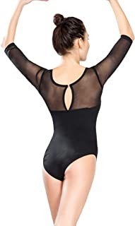 ModLatBal Women Gymnastics Dance Ballet Leotard Long Sleeve Bodysuit