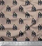 Soimoi Cotton Duck Fabric Gorilla Animal...