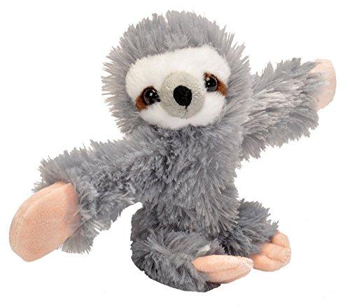 Wild Republic Huggers Sloth Plush, Slap Bracelet, Stuffed...